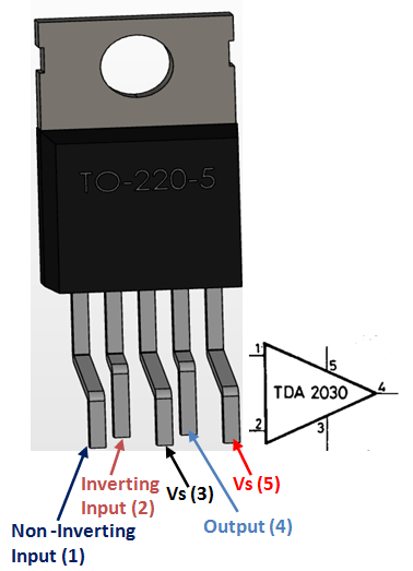 tda2030a audio amplifier pinout