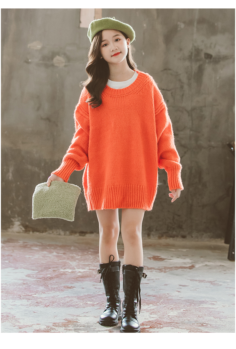 Girls Sweater Pullover Sweater Dress For Kids 2020 Autumn Winter Korean Big Girl Fashion Lazy Sw In 2021 Childrens Clothes Girls Little Girl Outfits Kids Outfits Girls [ 1116 x 756 Pixel ]