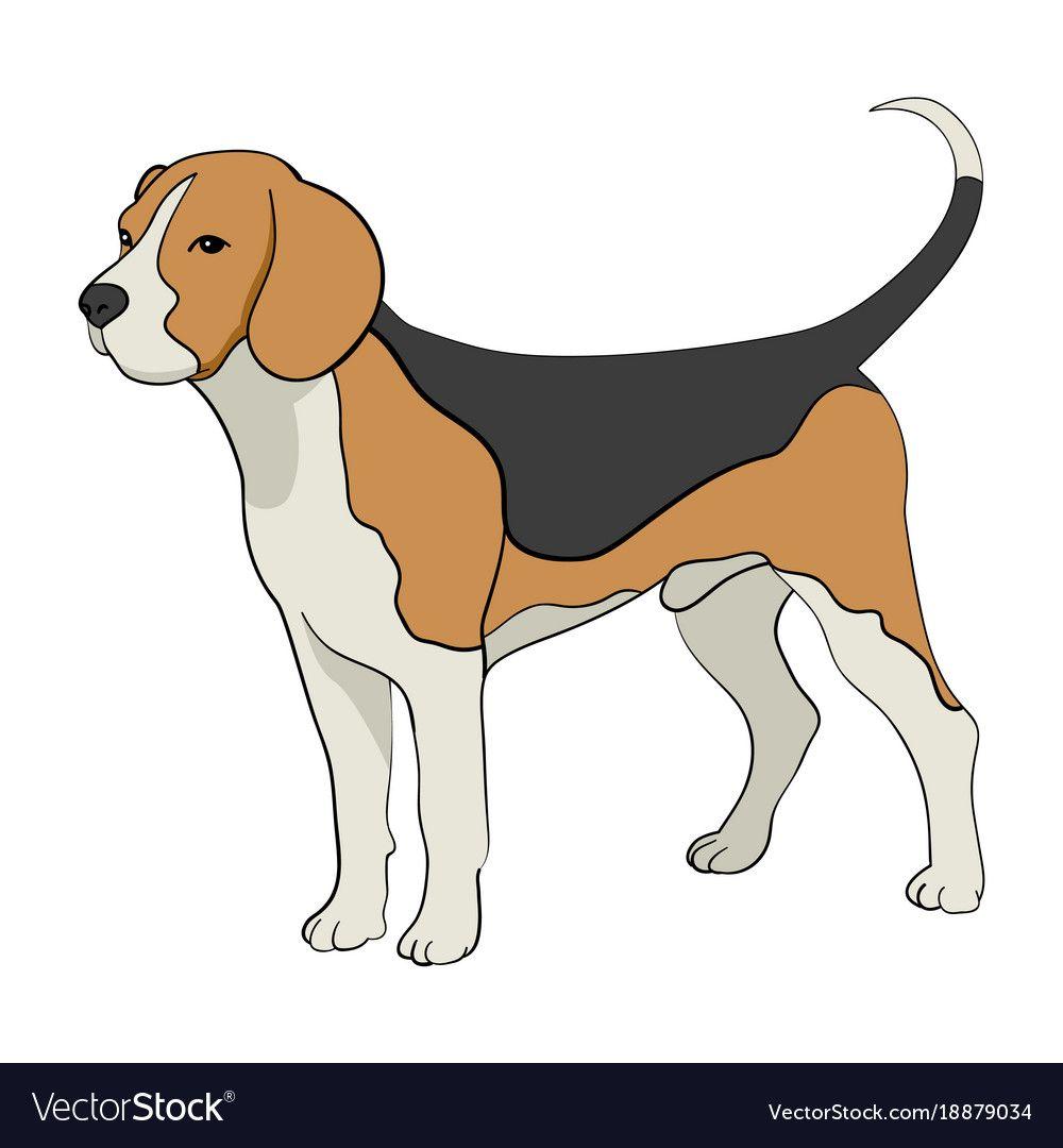 Cartoon Of Beagle Dog Royalty Free Vector Image Affiliate Dog