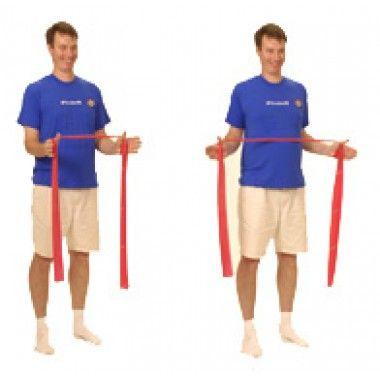Thera Band Shoulder Retraction External Rotation