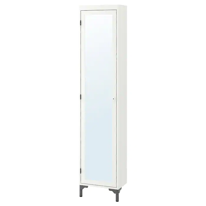 Ikea Silveran White High Cabinet With Mirror Door Mirror Door Ikea Silveran Mirror Cabinets