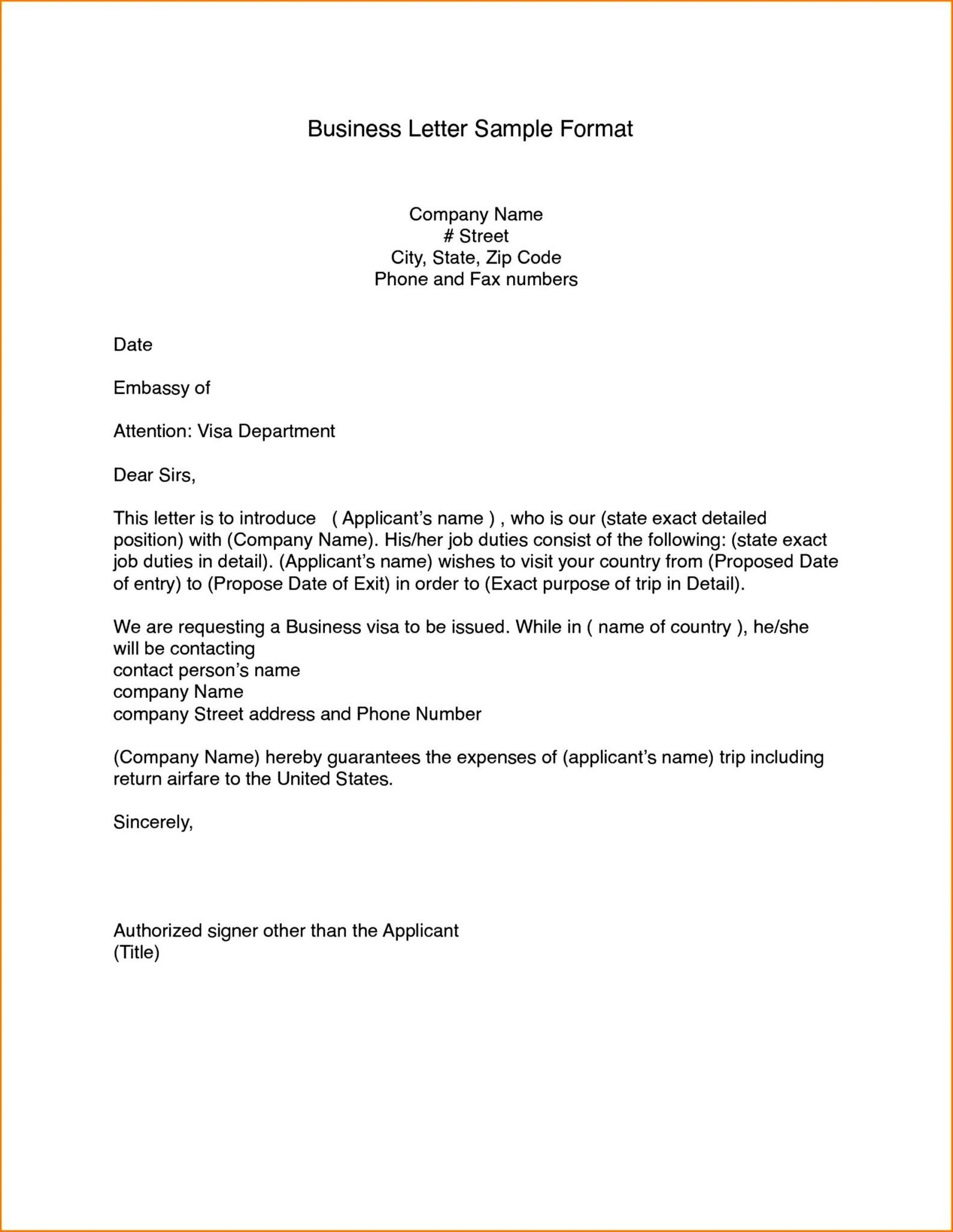 Business Letter Format Template In 2021 Business Letter Template Business Letter Format Business Letter Sample Template of a business letter