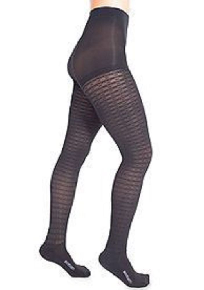 41001f14538 BOOT TIGHTS WOMENS CHEETAH or BLACK W  CONTROL TOP   ATTACHED SOCKS LARGE  SIZE