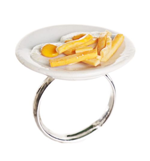 #TSVDAYCOMP Classic British Dish Egg And Chips Ring