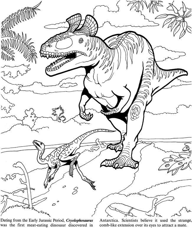 Meat Eating Dinosaur Coloring Pages Images