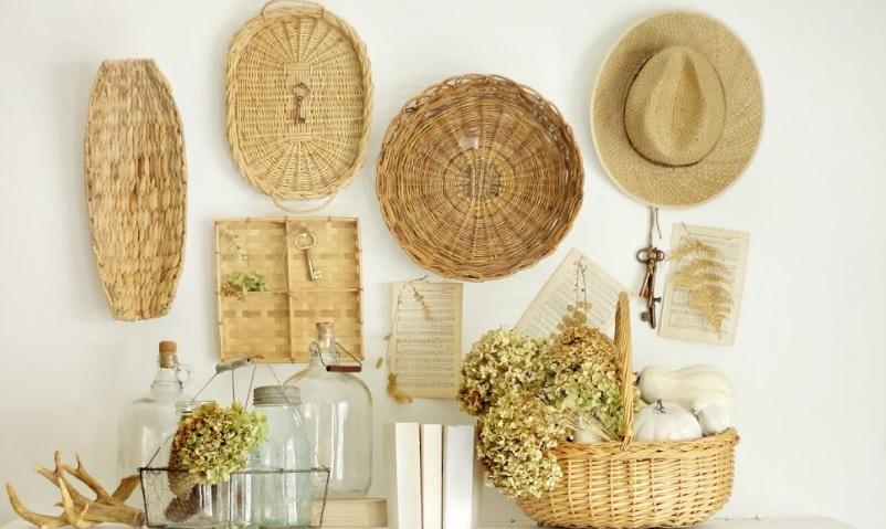 cestos de palha para parede, comprar - Pesquisa Google   Nature decor,  Color pallets, Burlap bag