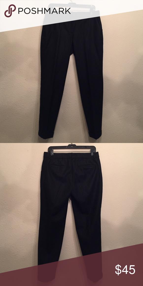 J. Crew Black Wool Pant J.Crew black wool Cafe Capri. Size 4 J. Crew Pants Capris