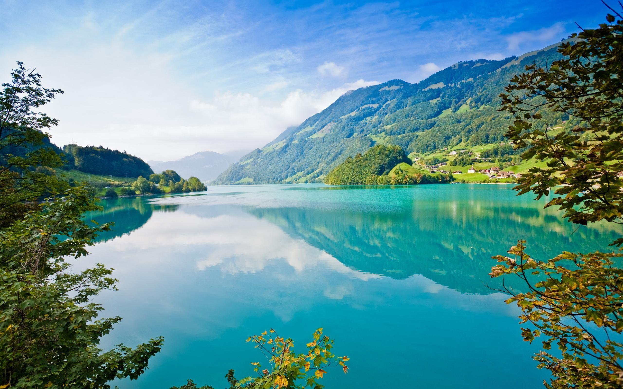 green lake beautiful landscape wallpaper for desktop laptop pc mobile free download