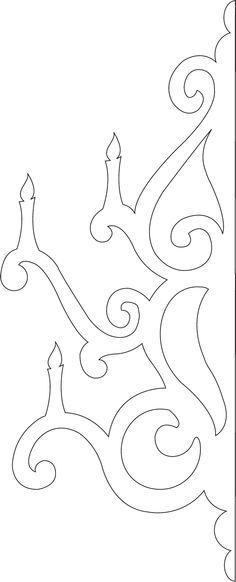 E03f485c9671ab16b8654d1e637aae88 Jpg 236 582 Chandelier Template Basteln Mit Papier Bastelarbeiten Scherenschnitt