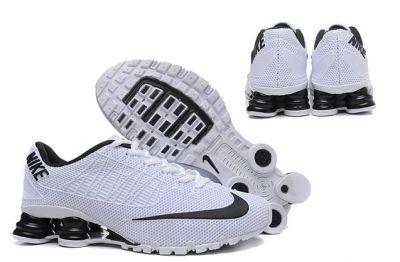 Nike Shox Turbo 21 KPU White Black Mens Running Shoes Sneakers