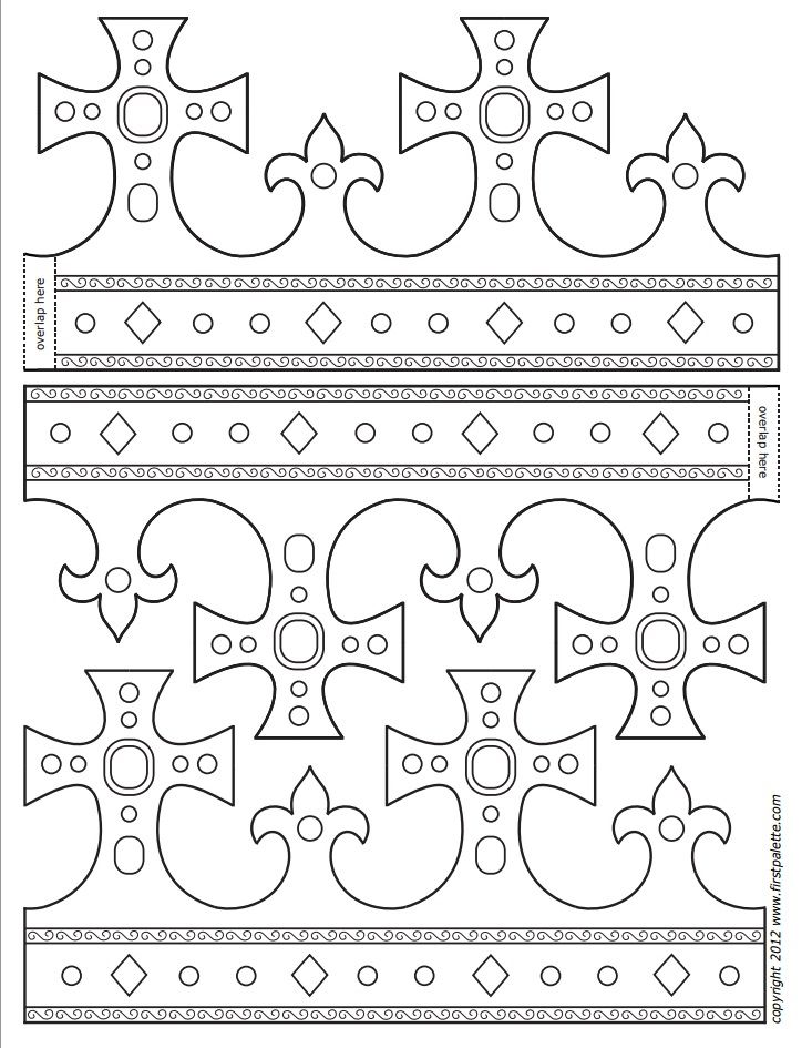 Royal Paper Crowns koruny Pinterest Crown template, Crown a