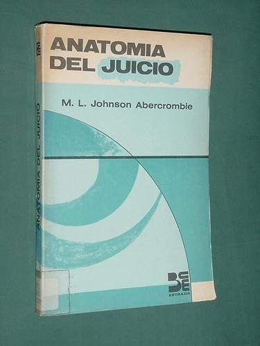 Libro Anatomia Del Juicio Johnson Abercrombie Estrada 1969 - $ 35,00 ...