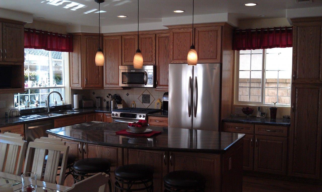 Oak Hazelnut Kitchen Medallion Cabinets With Black Countertop Kitchen Cabinet Interior Best Kitchen Cabinets Luxury Kitchen Cabinets