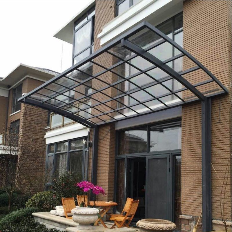 Curved Roof Aluminum Carport Polycarbonate Cantilever Carport With Polycarbonate Covering