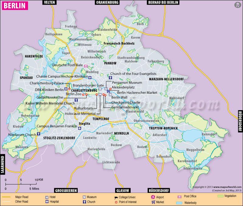Berlin Map City Map Of Berlin Germany Berlin Berlin City City Maps