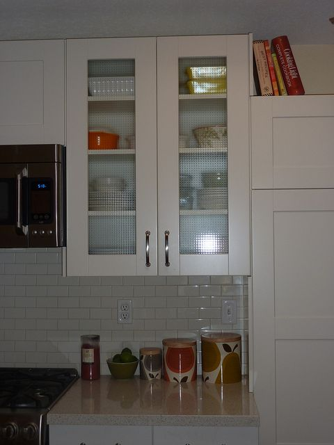 Ikea adel with glass cabinets - Upper cabinets for storage | IKEA ...