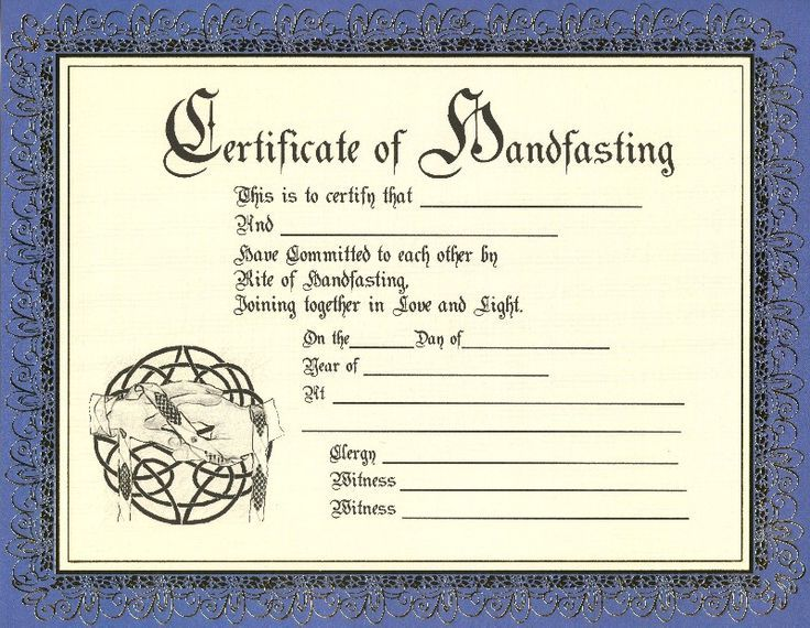 Keepsake Marriage Certificate Template Celtic/Pagan Pinterest - wedding certificate template