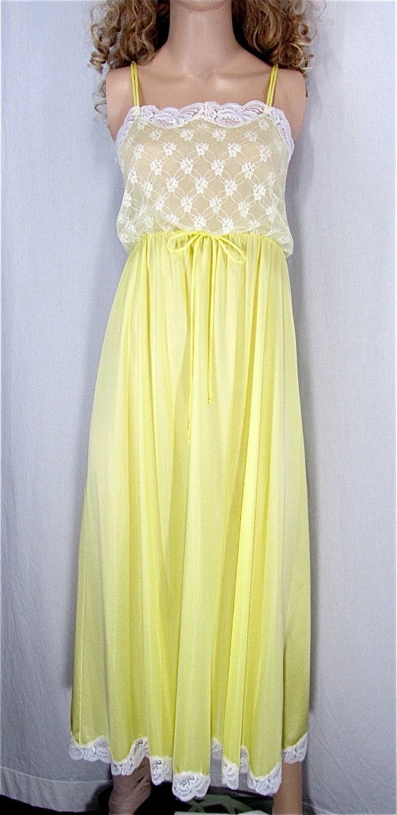 Hey, I found this really awesome Etsy listing at https://www.etsy.com/dk-en/listing/239926794/yellow-nightgown-medium-hand-dyed