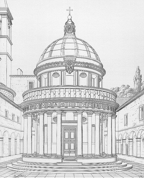 Continuation Of The Works Of Bramante Lazzari Sacred Edifices