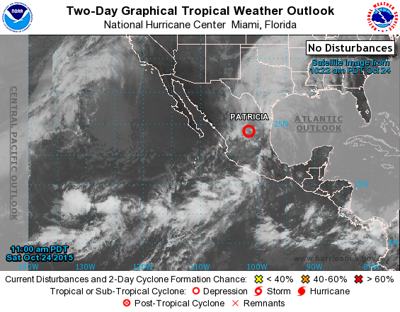Eastern Pacific 2 Day Graphical Tropical Weather Outlook National Hurricane Center Weather Tropical
