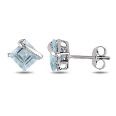 Resultado de imagen para earrings stud princess cut