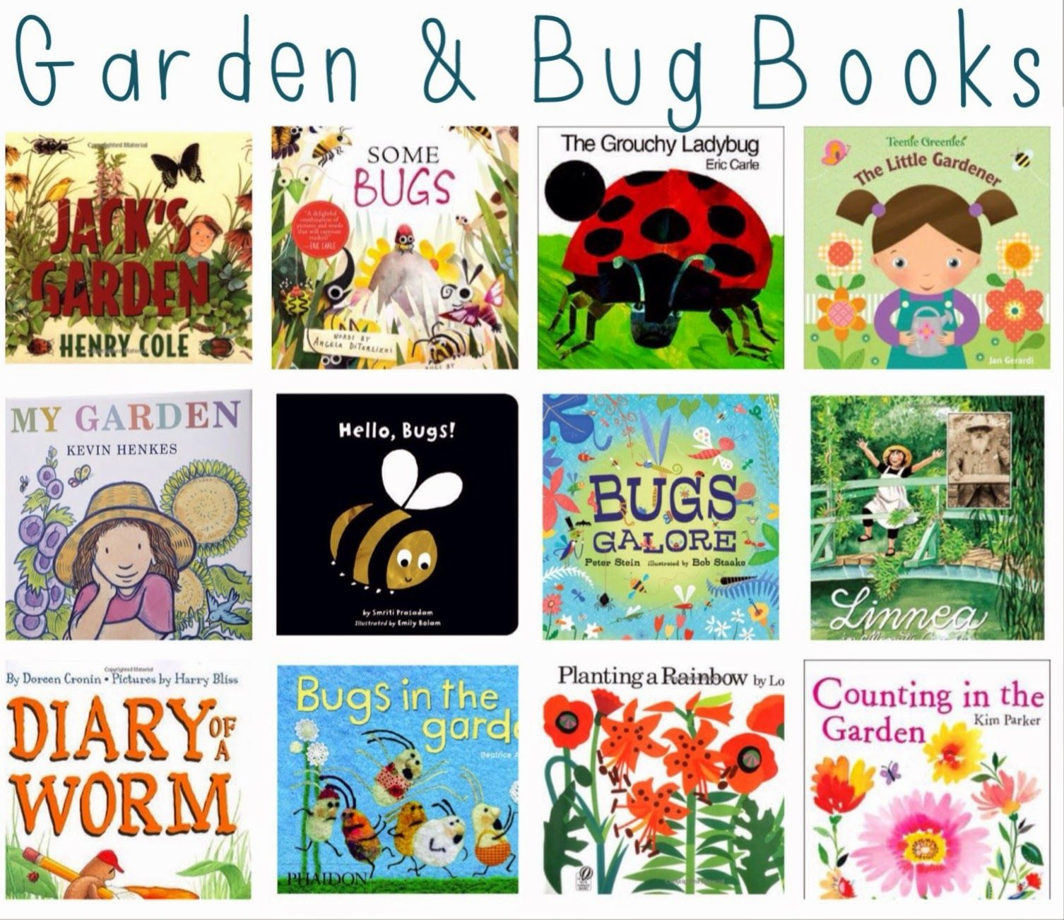 Our Favorite Books For Spring | Garden bugs, Youngest child and Child
