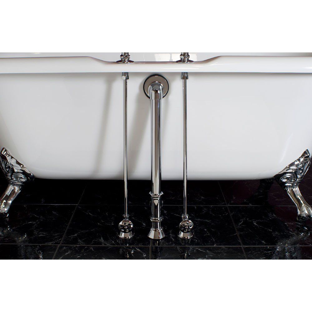 Clawfoot Tub Water Supply Lines For Deck Mounted Tub Faucets With