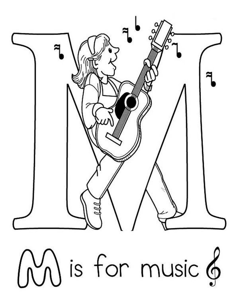 Free Printable Coloring Pages Of Music Notes