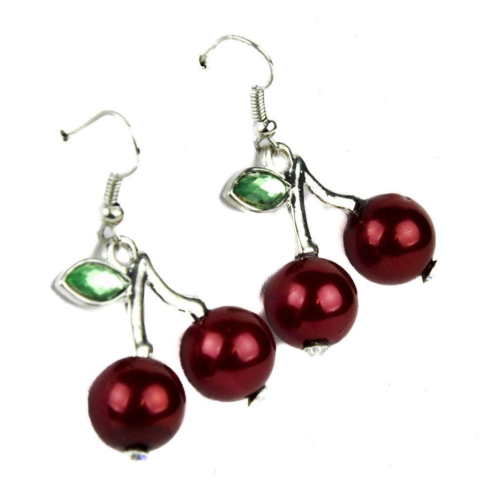 Sexy Cherry Earrings Elegant Rockabilly Jewelry