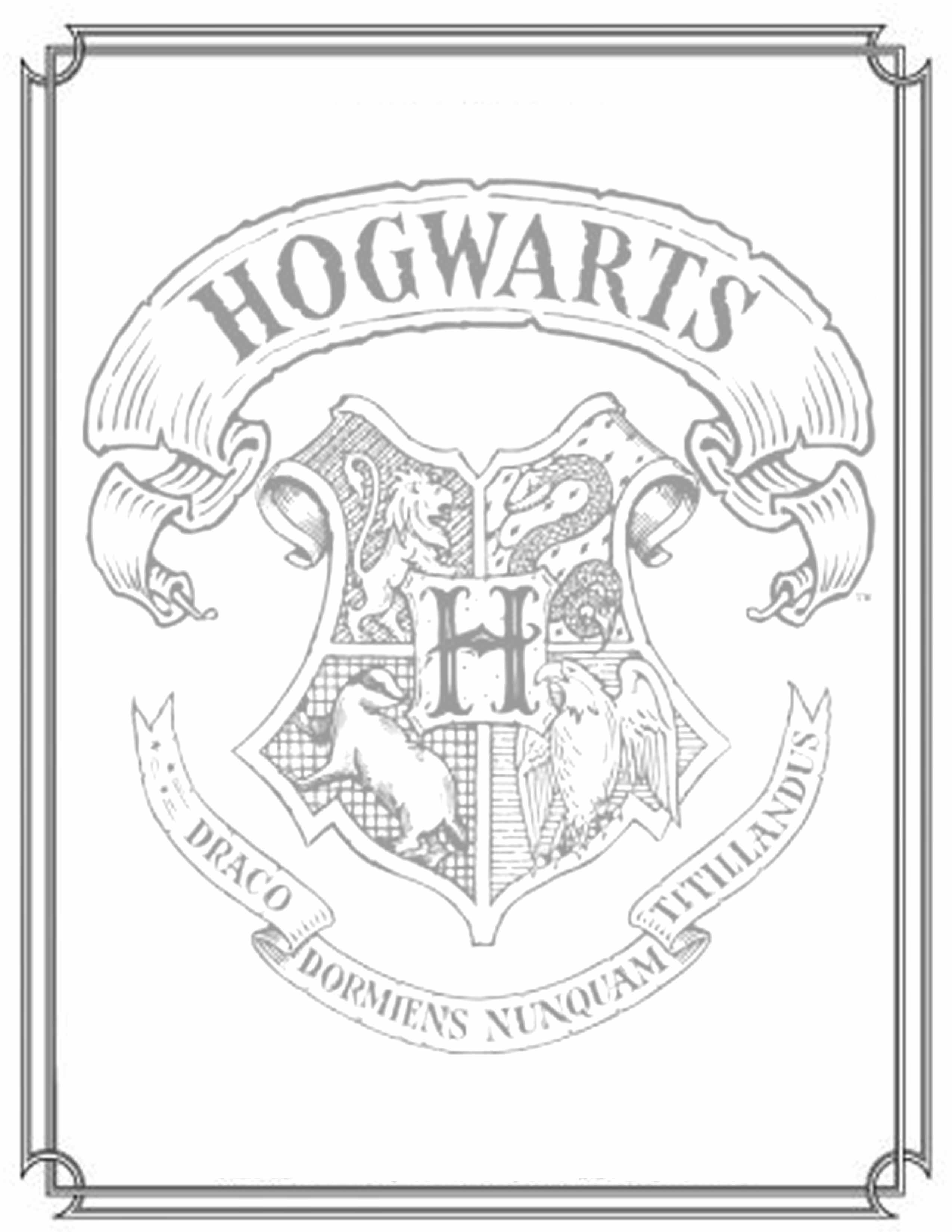 Harry Potter Coloring Page!! Harry potter colors, Harry