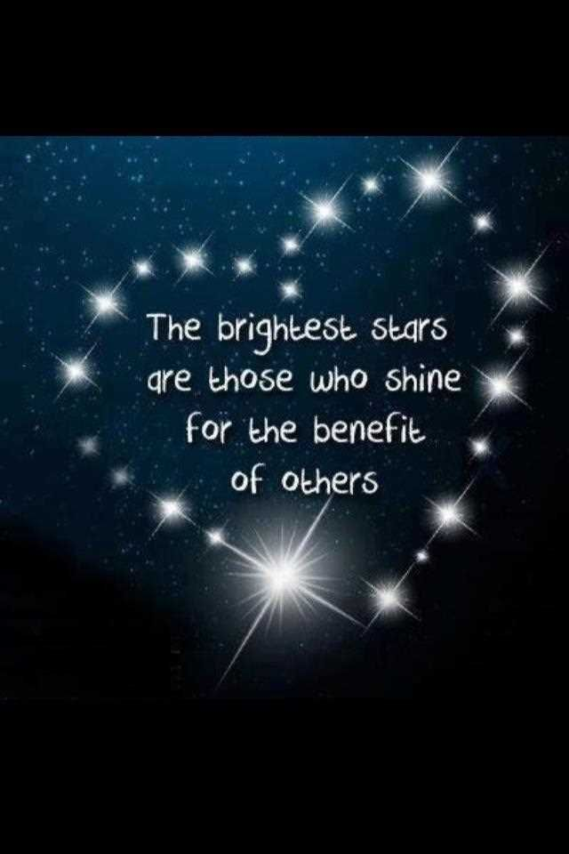 Life Love Quotes The Brightest Stars Are Musical Words Pinterest