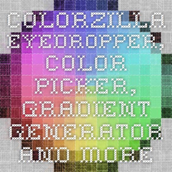 ColorZilla - Eyedropper, Color Picker, Gradient Generator and more