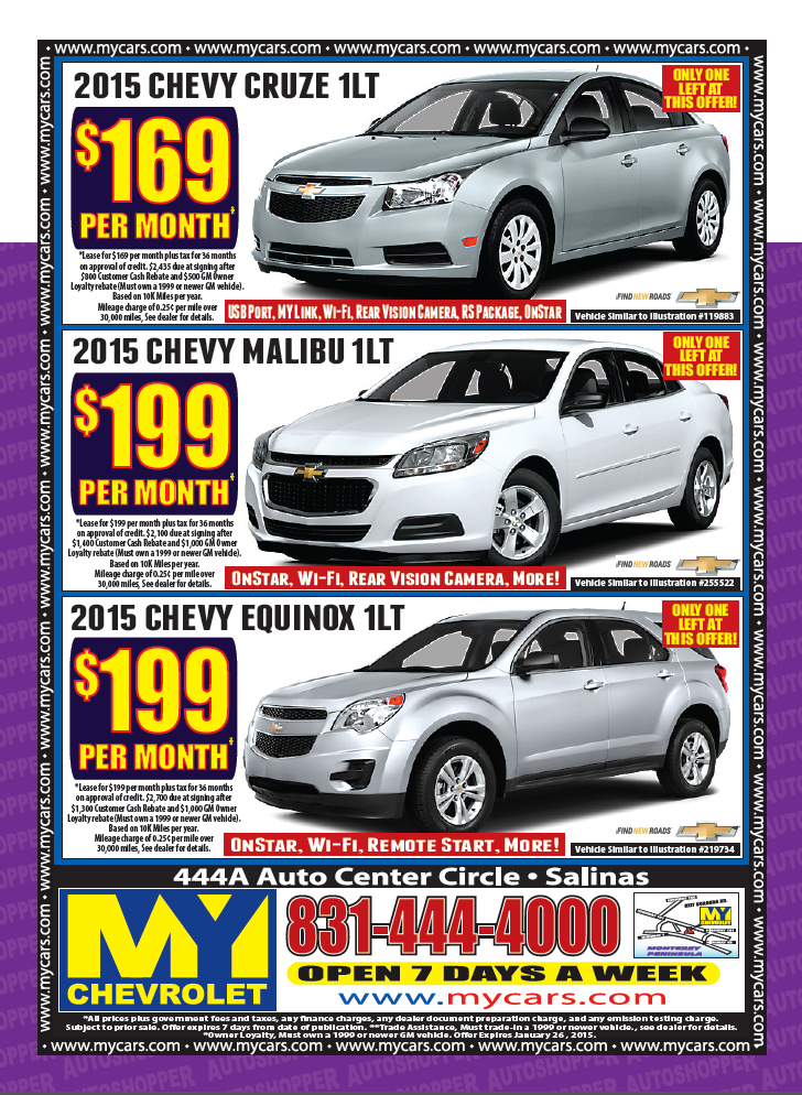 Lease A New 2015 Chevy Cruze 1lt For 169 Month Right Now At My