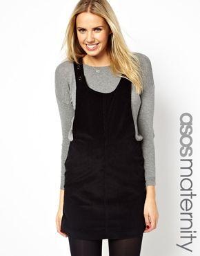 1a93380b40 ASOS Maternity Pinafore Dress In Cord