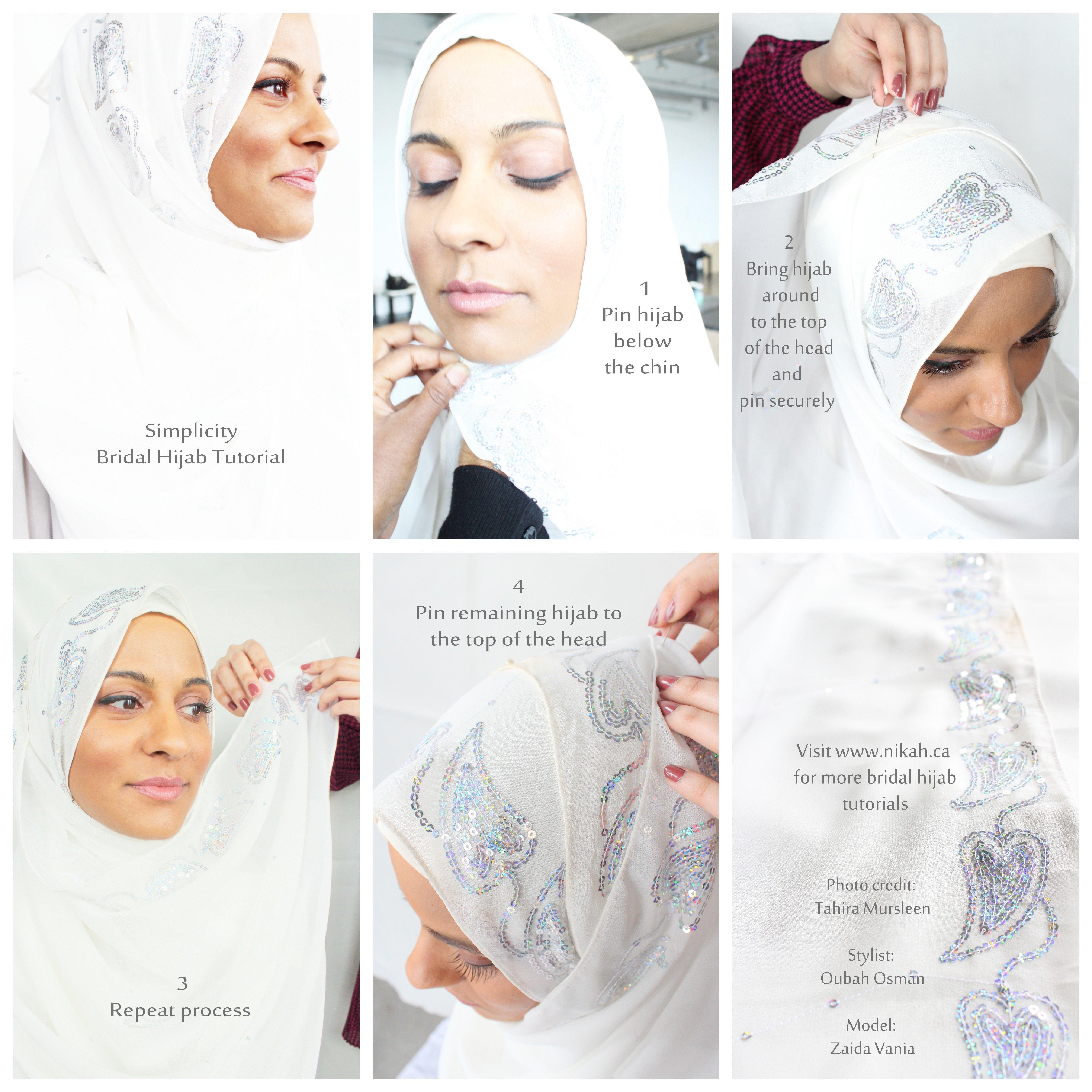 Tutorial Hijab Untuk Akad Nikah Simple Kursus Hijab Pengantin