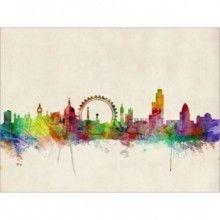 London Skyline Watercolour