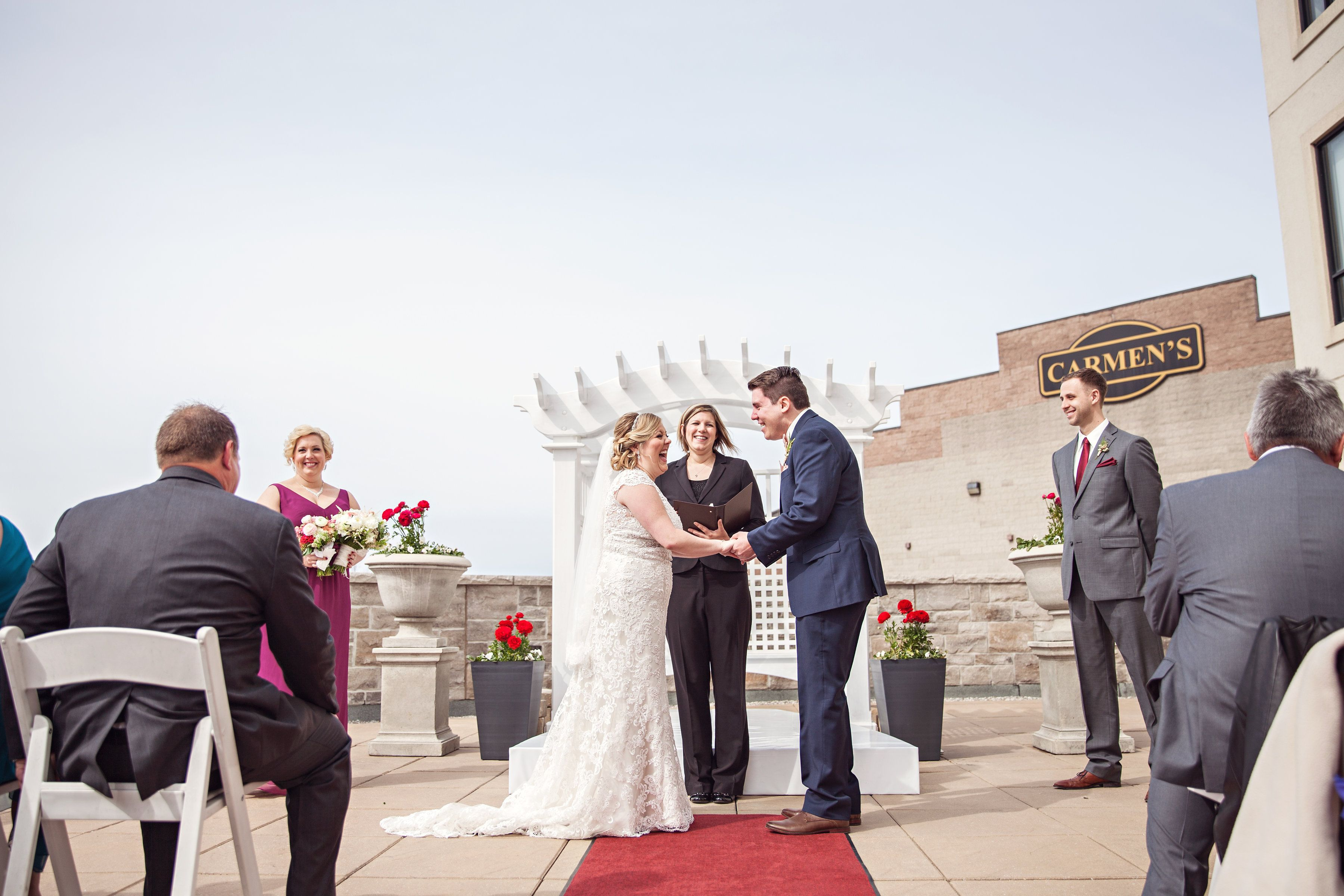 Say I Do On C Hotels S Rooftop Patio In Hamilton Ontario Photography Credit Melissa Miller Photography Momen Wedding Venues Ontario Rooftop Patio Hotel