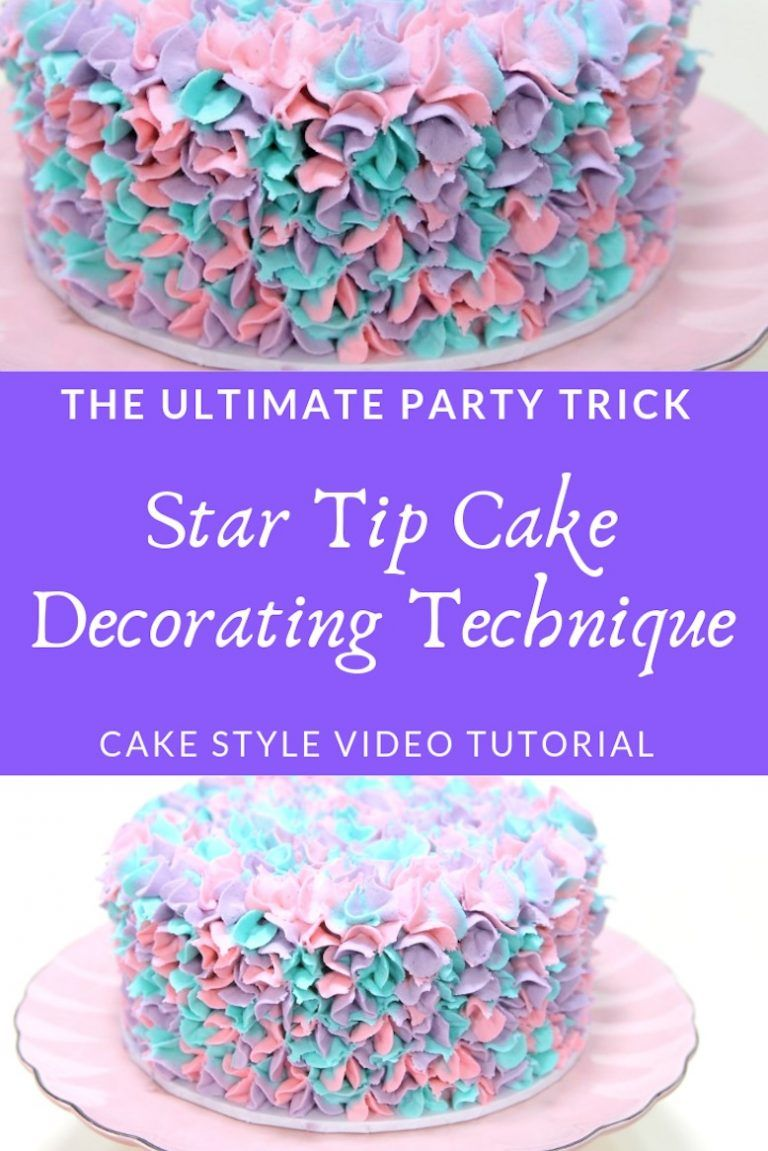 How To Star Tip A Cake Video Tutorial With Images Easy Cake