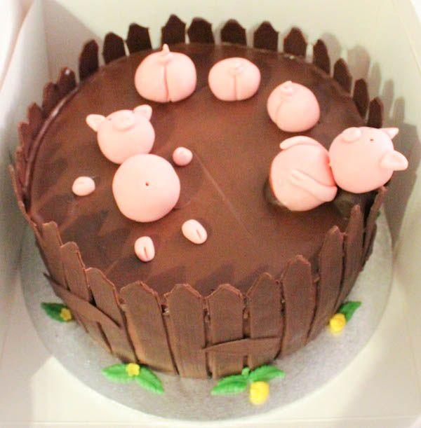 Pigs in mud -cake