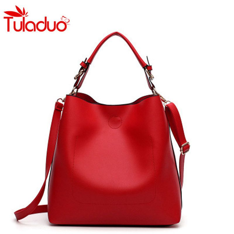f2612b2654 New Large Capacity Women Bag Fashion Pu Leather Shoulder Bag Casual Tote Bag  Designer Female Bucket Handbags Composite Bag - Fatekey