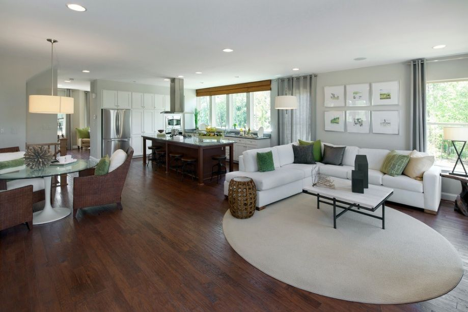 Love The Unexpected Round Carpet! Small Open Plan Kitchen Living Room  Design, Pictures, Remodel, Decor And Ideas   Page 6