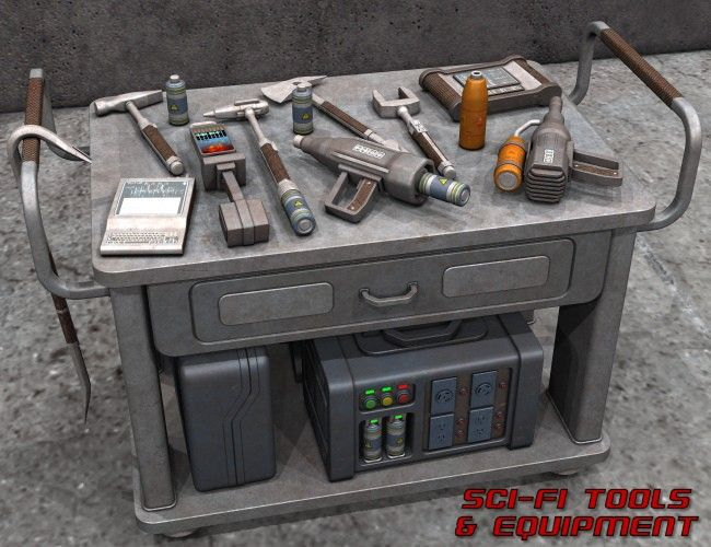 Sci Fi Tools And Equipment 3d Models And 3d Software By
