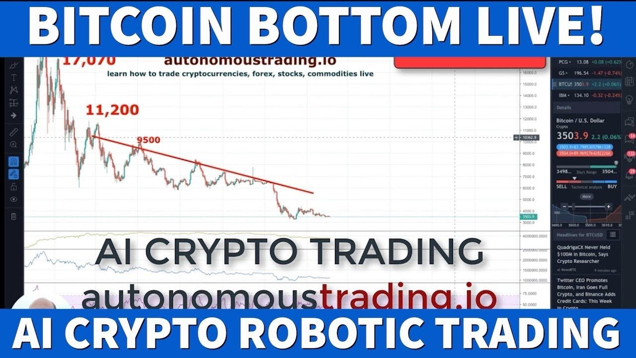 AI Crypto Trader Legend Live Calling BitCoin Bottom 3,500