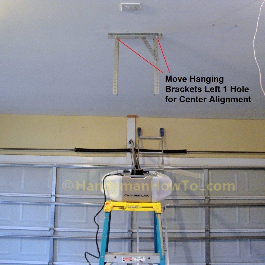 Garage Door Opener Hanging Brackets Garage Doors Garage Door Opener Open Ceiling