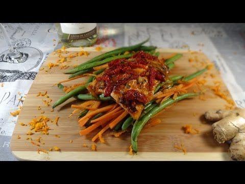 Tangerine Ginger Salmon and Vegetables en Papillote - Colleen's Kitchen