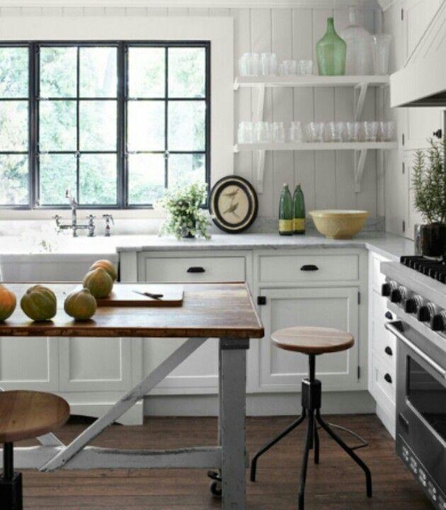 Modernized Bungalow Kitchen Renovation: Modern White Cottage Kitchen