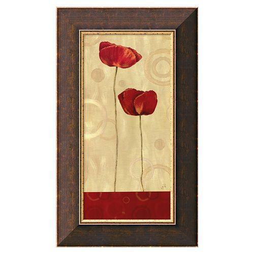 Pop Art Poppies I Framed Canvas Art by Daphne Brissonnet | Art ...