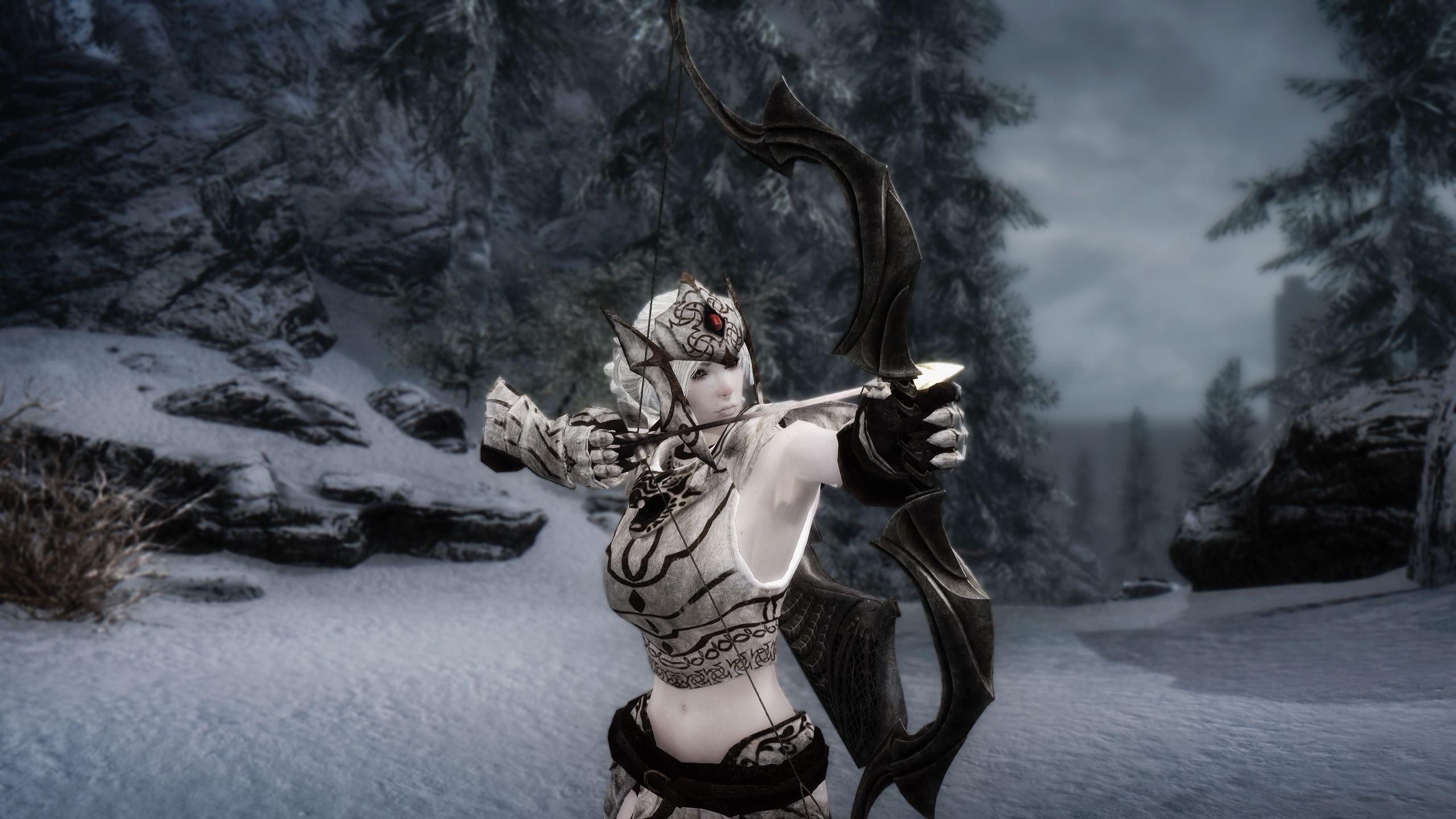 Snow Elf Follower Mirielle CBBE at Skyrim Nexus - mods and