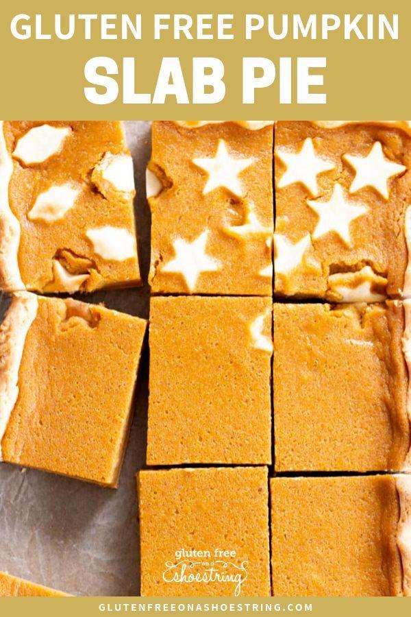 Gluten Free Pumpkin Slab Pie
