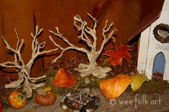 Paper bag gnarly trees by Wee Folk Art
